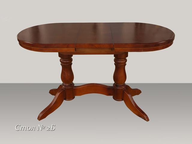 Обеденный стол овальный раздвижной  из массива
